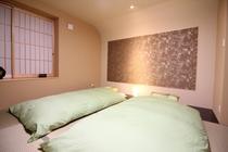 お布団のお部屋イメージ(鶴の間・白鷺の間・鴬の間)★京都西川★のお布団と枕をご用意しています。