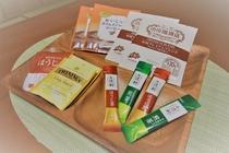 煎茶・ほうじ茶、京都で評判の小川珈琲をご用意しております。京都の味をお楽しみ下さい。