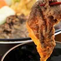 但馬牛のすき焼き(一例):卵にからめて召し上がれ♪