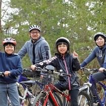 マウンテンバイク:街中では味わえない森の中をマウンテンバイクで駆け抜けよう!(有料)