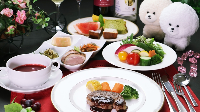 ★【ちょっと少なめでも大満足♪】会津の美味しい野菜&福島牛ステーキを味わうご夫婦プラン!