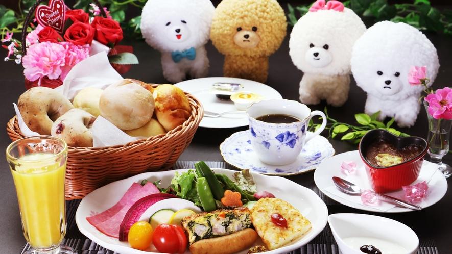 【ご朝食一例】地元の旬野菜や手作りにこだわった、心温まる朝食をご賞味ください。