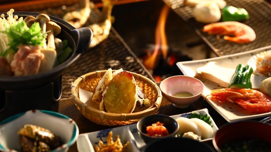 ■旬の食材を愉しむ囲炉裏会席