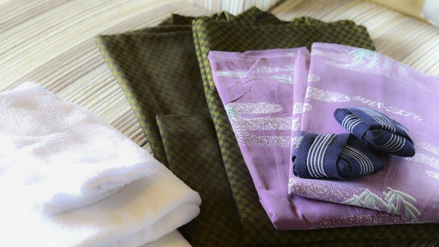 ■お部屋には浴衣とタオルをご用意しております