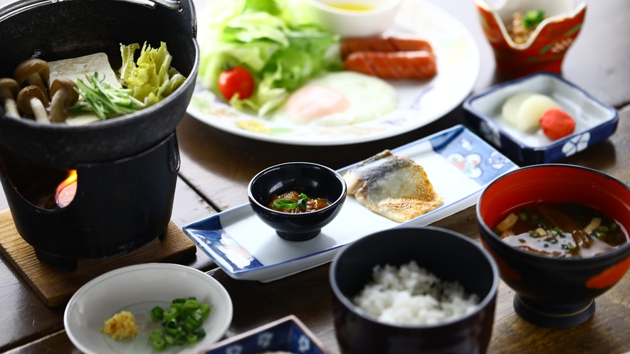 ■和朝食一例 お腹いっぱいお召し上がりください