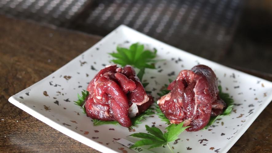 ■別注料理。お試しジビエ(鹿・猪)写真は2人分です。