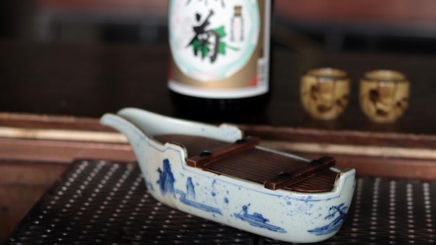 ■陶器酒。囲炉裏で温めながら