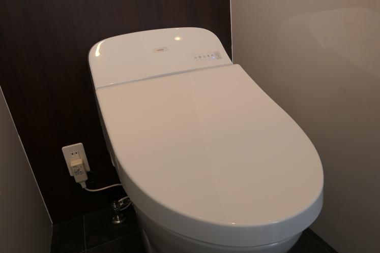 新しくて清潔な温水洗浄便座(ウォシュレット付きトイレ)