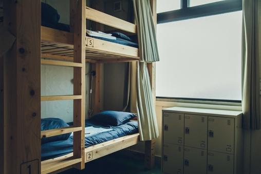 男女混合ドミトリー8人部屋
