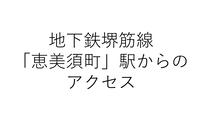 地下鉄堺筋線「恵美須町」1-A出口からのアクセス
