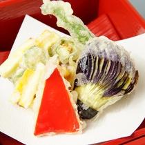 野菜の天麩羅 (献立一例)