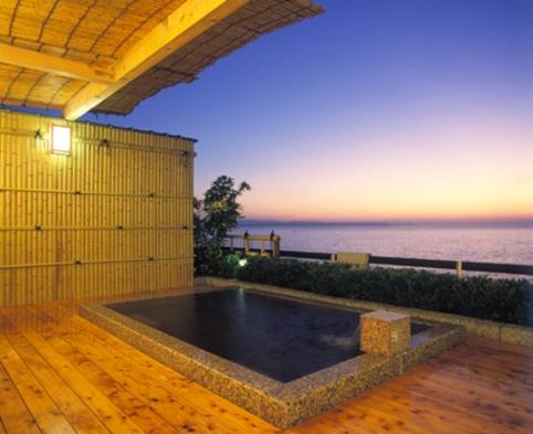 お部屋のお風呂も温泉!フィットネスオープン!海側限定!半露天風呂付和洋室(食事なしプラン)