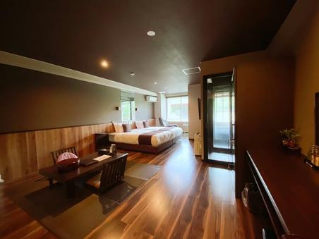 【信楽焼 半露天風呂付き客室】■和洋モダン■40平米■別館