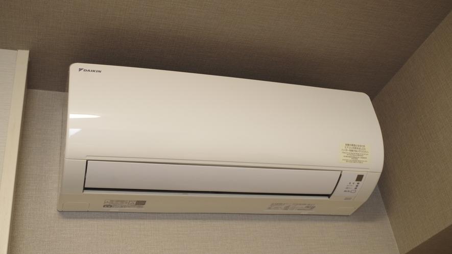 【客室】エアコンはお部屋毎で温度調整ができます