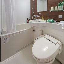 全客室ユニットバストイレ完備しております。トイレはもちろん全部屋ウォシュレット完備です。