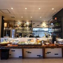 *【朝食一例】当館自慢の朝食ブッフェ!三島ならではの料理の品々。