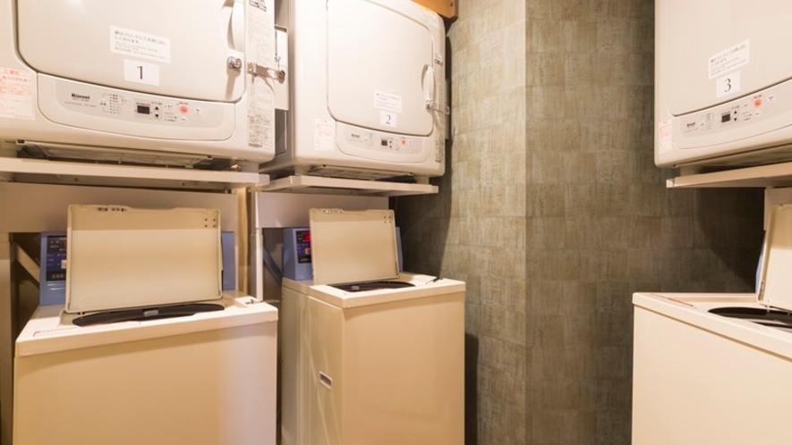 【男性】洗濯機、乾燥機3台(洗濯機無料、乾燥機20分100円)