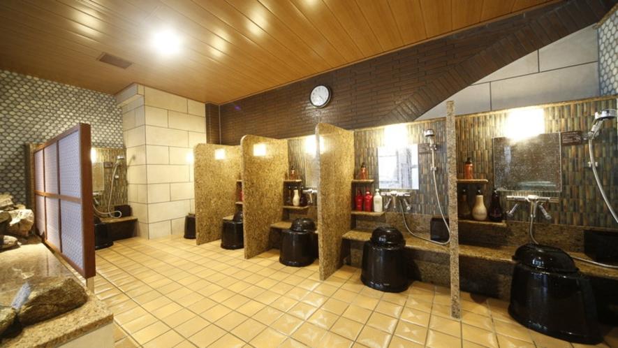 【女性】洗い場(カラン7個設置)