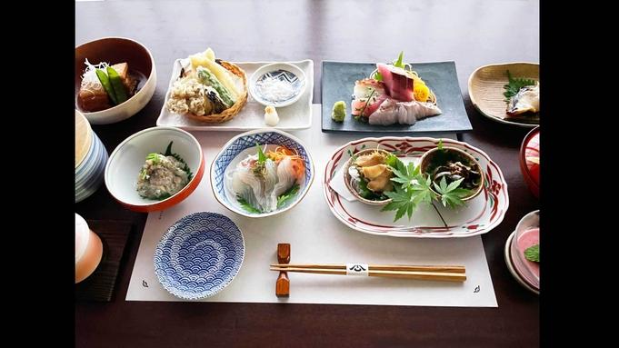 【夕朝食付】<舟盛付>料理屋+宿屋★滋味溢れる新鮮な地元海鮮を活かした素朴な海鮮会席料理を個室で♪