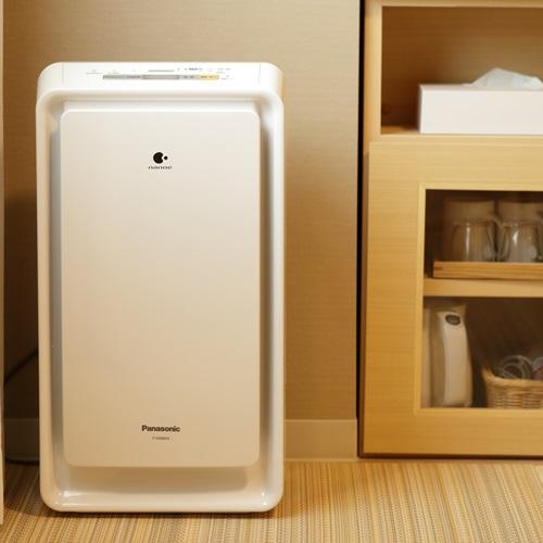 【客室設備】加湿器付空気清浄機
