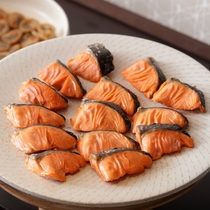 朝食バイキング 焼き鮭
