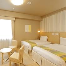 【ツインルーム】 お子様のご宿泊にも便利な床材畳使用