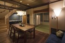 1階和室は畳の下にも床暖房を備えております。