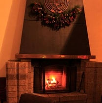 ラウンジ・暖炉
