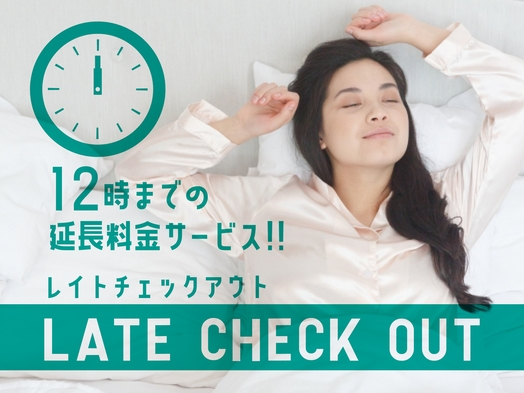 ☆2人でゆっくり♪12時チェックアウト!販売日限定プラン☆ 【大浴場・朝食・Wi-Fi・駐車場無料】