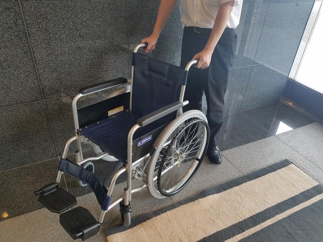 車椅子の貸し出しも行っております。