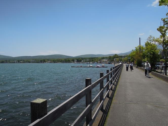 ロードレース、山中湖を見ながらRUN RUN RUN!