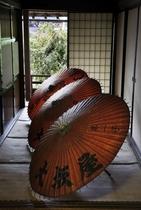 廊下の番傘