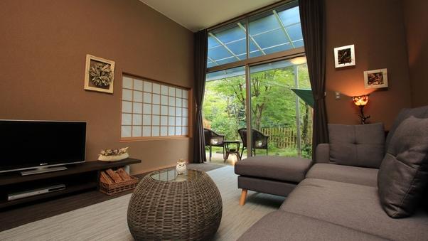 【月・蝶】客室+専用ガーデン=160平米