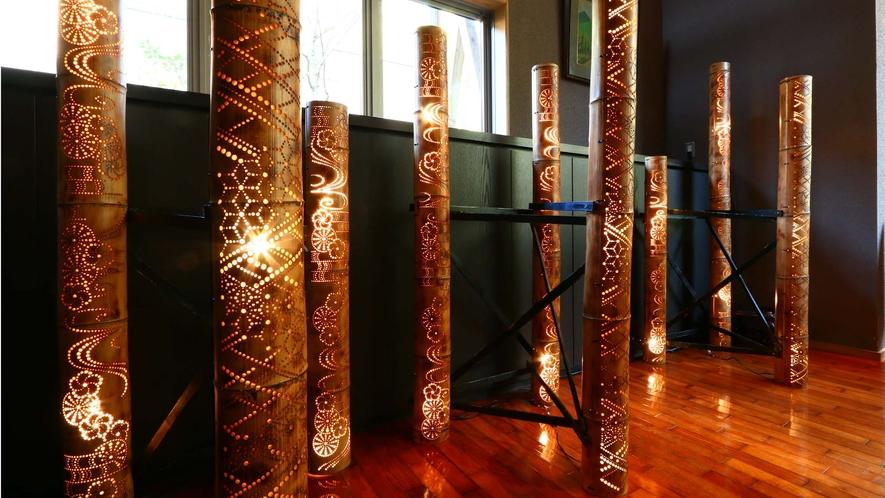 3月 竹灯籠飾り