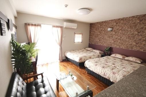 【禁煙】4人部屋(ダブルベッド2台)