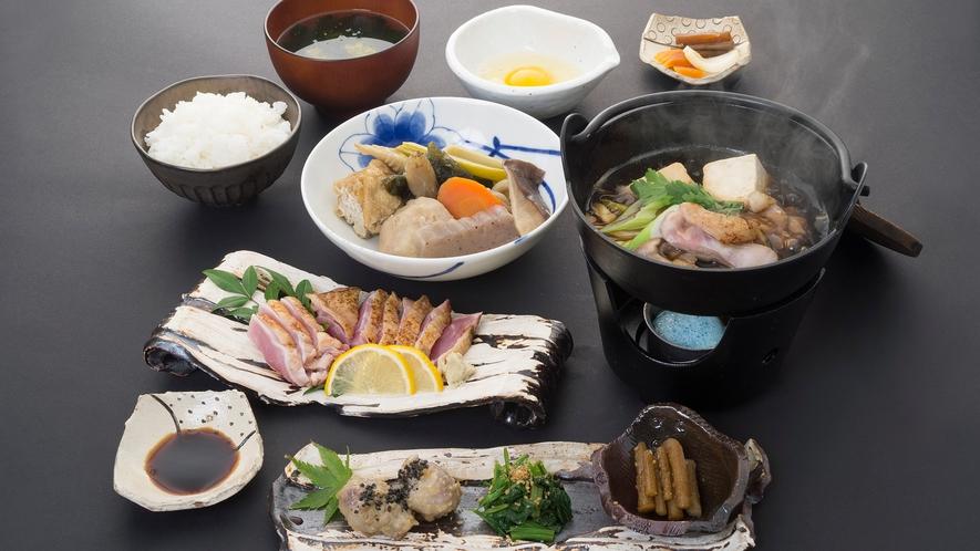 *【夕食一例】高城の里山料理コース(すき焼き)
