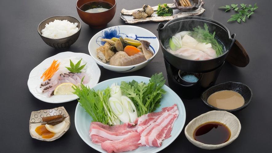 *【夕食一例】食べる温泉フルコース