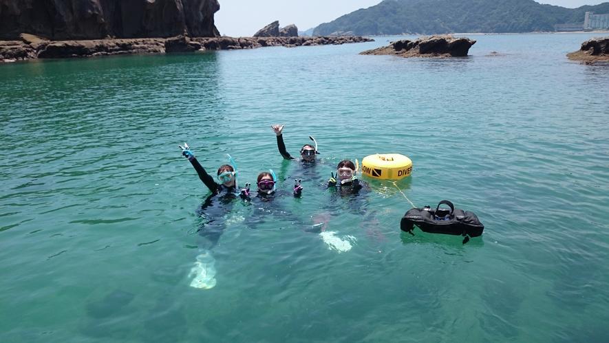 【体験ダイビング】海からピース♪