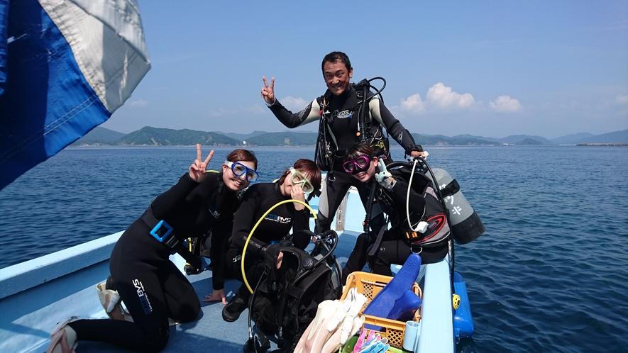 【体験ダイビング】インストラクターと船上で★