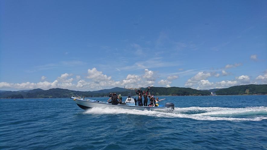 【体験ダイビング】船で無人島へ!