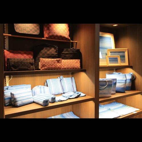 売店「南風(ぱいかじ)」 みんさー織りポーチ・バッグなどお土産にいかがでしょうか?