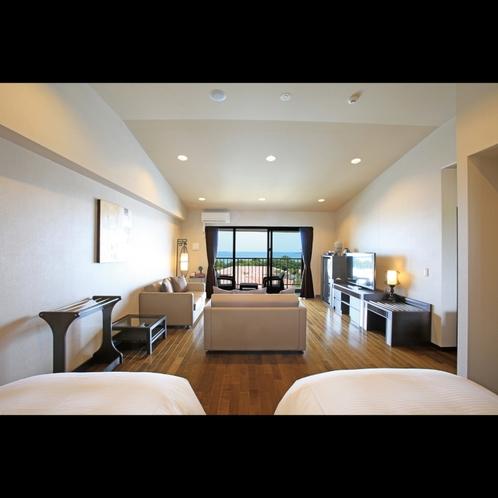 スーペリアテラス オーシャンビュー 「うみかじの宿」の2階・3階に位置するお部屋です。