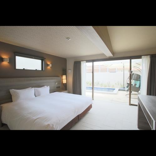 プレジデンシャルコテージ キングサイズベッドの他に、ソファベッド1台の設置が可能です。