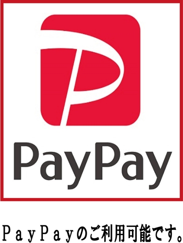 paypay利用できます。