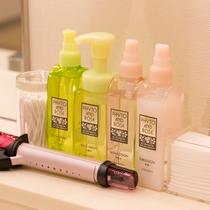 【女性向けアメニティ】洗顔料や乳液、化粧水など女性に嬉しいアメニティもご用意しております♪