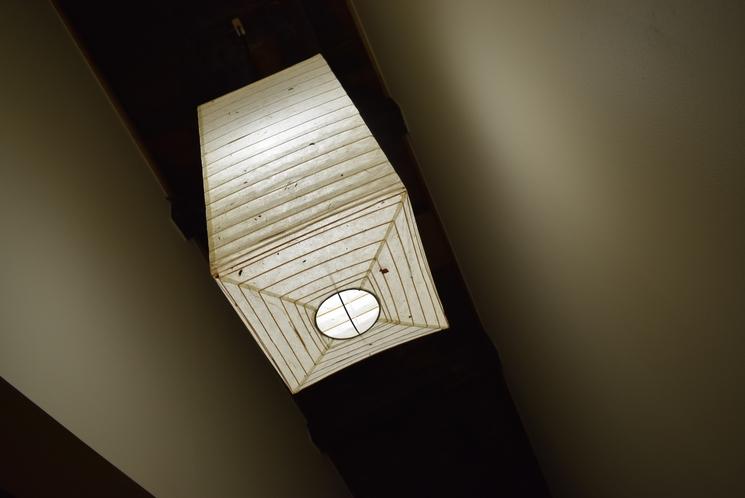 階段上の照明