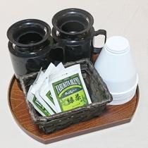 *【お茶セット】各部屋にご用意してます。ほっと一息ついてお寛ぎください♪