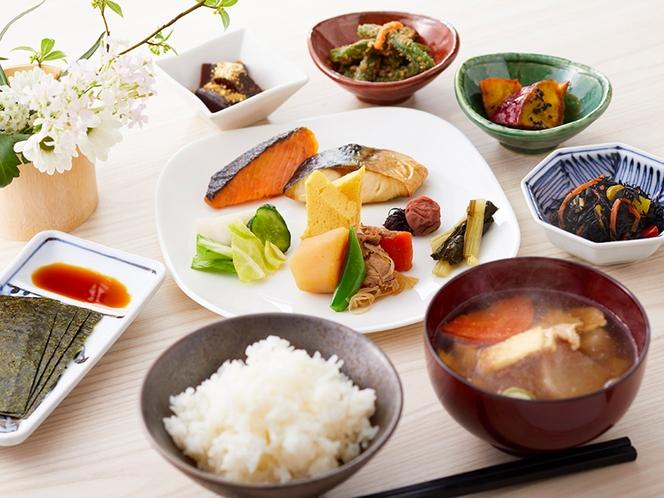 和食でまとめた朝食イメージ