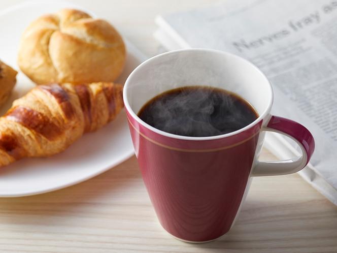 朝食でもオリジナルブレンドコーヒーを提供
