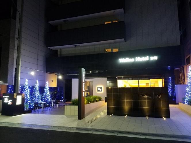夜のWelina Hotel